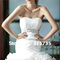 2013 New Style!!! Royal princess fishtail train LACE+2080 Organze wedding dress