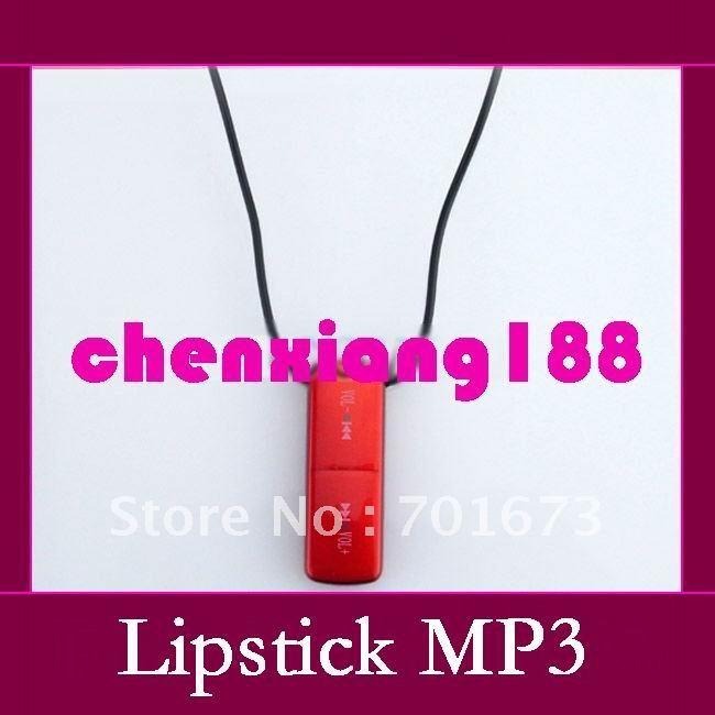 Cheap lipstick Mini Multimedia digital MP3 Player Build-in 2GB/4GB/8GB Memory Water resistant MP3 Player 10pcs/lot(China (Mainland))