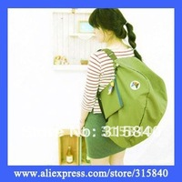 50pcs Women Solid Foldable Storage Bag Backpacks Girl Travel Shoulder Bag -- BIB31 Free Shipping Wholesale & Retail
