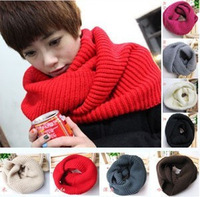 GG011 New Fashion Women's Corn kernels Shawl Knitted Wool Neck Cowl Wrap Scarf Warmer Circle