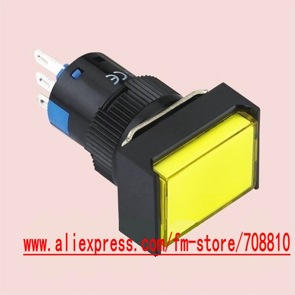 5pc 1NC+1NO momentary Push switch LED(rectangle)G16,( A ) series,voltage: 6V 12V 24V 36V 48..220V,Color options&Free Shipping(China (Mainland))