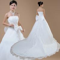 Free shipping Train wedding dress 2013 tube top princess wedding dress physical wedding formal dress 129