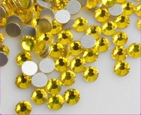 Free Shipping, SS8 (2.3--2.4mm)--High Shine 1440pcs 021 Citrine Nail rhinestones high quality SS8-13