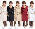 Free shipping women trench coat double breasted military long overcoat autumn formal slim women's outerwear 2013 New fashion