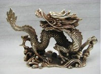 THE REAL TIBET SILVER STATUE OF FLY DRAGON BY EMS Free shipping