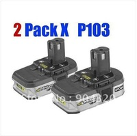 2 X Ryobi P103 18V 1.4Ah Lithium-Ion battery BPL1815 for all tools