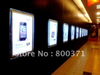 Crystal frame led display signage light box for wall mounted advertising