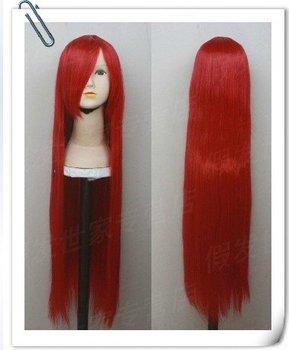 Hot sale custom made Cheap uzumaki kushina Cosplay wig from Naruto anime costume