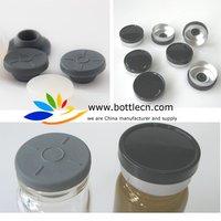 free shipping 5000pcs/lot black aluminium plastic flip caps crimps 20mm plain with stoppers free shipping