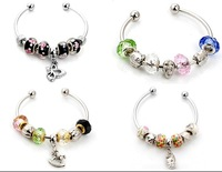4 fashion new handmade charm cuff bracelet fit European nice beads s684-687