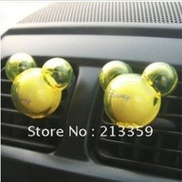 Free Shipping for Mickey Mouse Car Auto Air Freshener Perfume,car perfume, crystal mickey model, 2pcs/bag