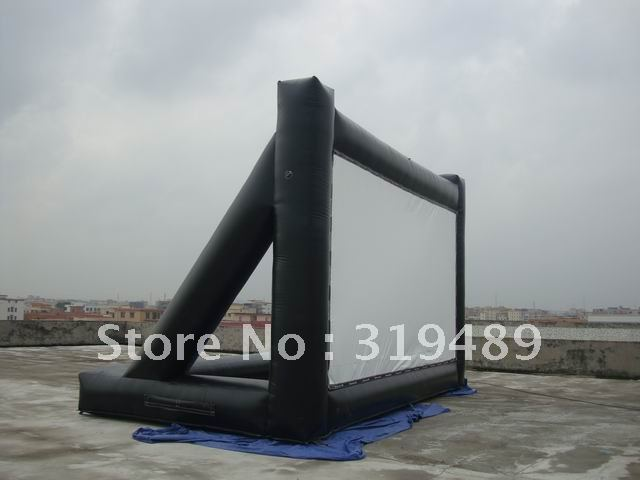 commercial quality PVC inflatable movie screen+free carry bag and CE/UL blower,repair kit(China (Mainland))