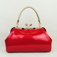 The wedding bags 2012 aberea 1156 brand women's handbag japanned leather red bridal bag