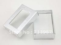 12pcs wholesale lots ,Silvery  Square Paper  Fashion Jewelry Packing  Gift  Box  BX005