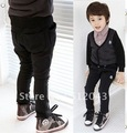Free shipping! New boys elastic waist cotton leisure trousers exquisite embroidery
