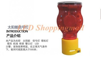 Free shipping,30 pcs/lot solar powered traffic signal warning light,LED solar safety sign flash alerting barricade lamp