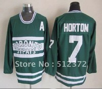 Free Shipping!!! Hockey jersey #7 Tim Horton throwback green jersey