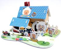 Piggy bank 3d puzzle toy diy handmade paper model