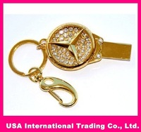 Wholesale gold bar Genuine 8GB 16GB 32GB USB 2.0 Memory Stick Flash Pen Drive, free shipping