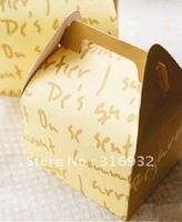 E1 Hot ! Korean Card Paper letter dessert boxes, 50pcs/lot