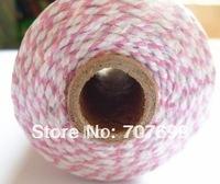 free shipping Double color 100% Cotton Bakers twine wholesale  5pcs/lot  pale pink (508C)colour