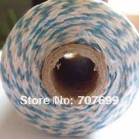 free shipping Double color 100% Cotton Bakers twine wholesale  5pcs/lot  lt blue colour