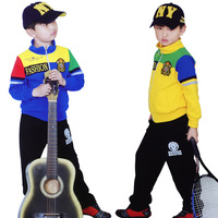 Free  shipping 2012 autumn children's clothing child sports sweatshirt A three-piece child clothes piece set