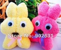 Cute Rabbit~100pcs/lot Wholesale Eco-friendly Many Colors Cotton Towel Rabbit Wedding Giveaways