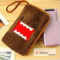 Plush Domo mobile phone pouch cartoon bag purse 5pcs/lot