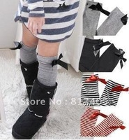 2012 Children in high tube without root / summer children socks / baby socks / stockings / cotton socks  free shiping