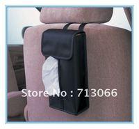 Free shipping car tissue box for auto car Decoration special multi-purpose paper towel box set black 1 pc