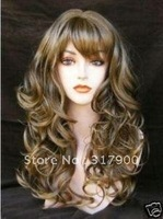 Brand New Fashion long brown curly full wig
