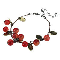 1000 fashion accessories glass material vintage sweet cherry necklace gift aesthetic bracelet