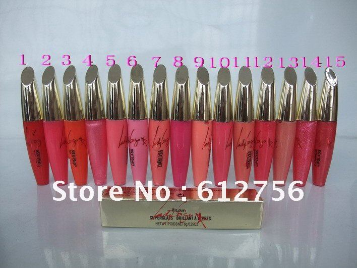free sample Wonder Woman LipStick LipGloss A Levres 15colors makeup free gift 20pcs/lot(China (Mainland))