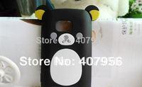 New Design Rilakkuma Lazy Bear Soft Back Case for Nokia lumia 710 N710,With high quality,1pcs/lot