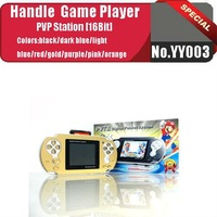 No.YY003  GOLD  New design PVT II digital pocket system for 16 bit Game console