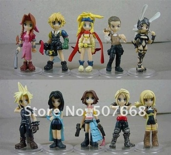 Final Fantasy Mini PVC Figure (10pcs = one  set) Pop Anime Figure