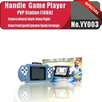 No.YY003  LIGHT BLUE   Portable handle game player(16 bit)+thousands of new games+free game card