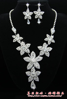 The bride accessories vintage royal set bridal accessories flower necklace female 76