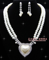 The bride accessories jewelry married rhinestone double layer pearl necklace long necklace female 10