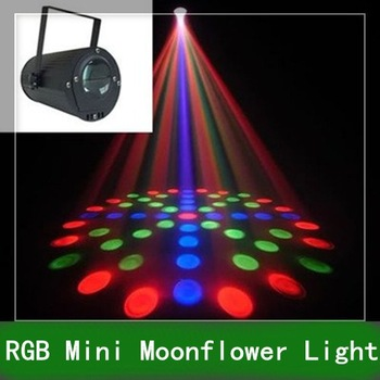 1pc Free Shipping RGB Mini led Moonflower lighting Light party Laser stage for DJ Club