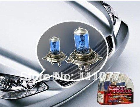 H4 Blue Headlight Bulbs 4700K Super White illumination(China (Mainland))