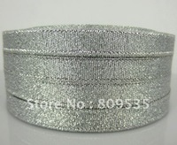 "3/8"" (10mm) Glitter Silver Elegent Ribbon For Wedding Party Gift Christmas Ribbon 250yards"