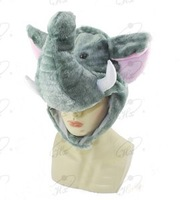 Wholesale Fashion Plush Animal Elephant Hat Winter Festival Hat 10pcs/lot