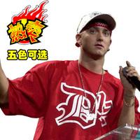 100% cotton eminem d12 loose hip-hop hiphop basketball plus size o-neck short-sleeve T-shirt
