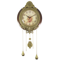Fashion solid wood rustic wall clock Large archaists silent watch movement