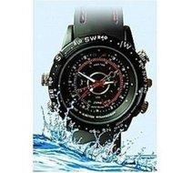 Hot sell built-in 8GB Waterproof Watch Hidden Digital Video Camera 720x480 AVI Mini Camcorder DVR+ Free Shipping