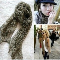W2 Free shipping wholesale12 pcs/lot Leopard scarf scarves mix color fashion silk scarf shawl hot selling ladies's scarf