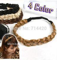 12pcs Free shipping beautiful Girl's Twist braids hair band headband