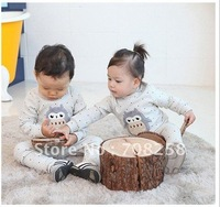 Free Shipping,3sets/lot,Baby Autumn/Winter Pajamas Set Children pajamas, Penguin Style Sleep Wear, 583#
